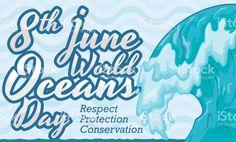 Impressive Wave Design for World Oceans Day Celebration
