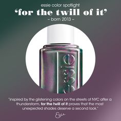 Do a double take with this iridescent hue.