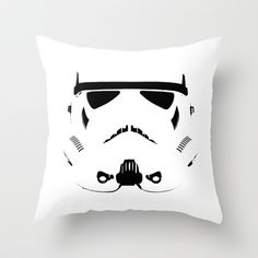 Storm Trooper Throw Pillow by WaXaVeJu - $20.00