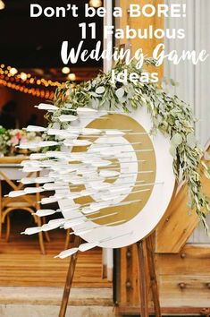 You'll love these 11 fabulous wedding games and other entertainment ideas. There are plenty of options for indoor or outdoor weddings! Your reception will super entertaining for your guests with these interactive games. Unique Wedding Reception Ideas, Wedding Reception Activities, Wedding Games For Guests, Indoor Wedding Games, Diy Outdoor Weddings, Unique Weddings, Entertainment Ideas, Wedding Entertainment, Handmade Wedding