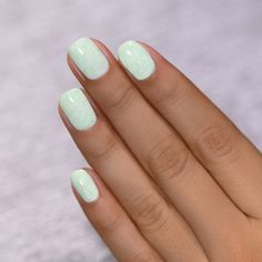 Almond Acrylic Nails, Cute Acrylic Nails, Cute Nails, Fingernails Painted, Stylish Nails, Trendy Nails, Mint Nails, Mint Green Nails, Black Nails