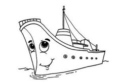 happy ship coloring pages for kindergarten and preschool