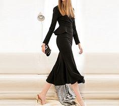 Fiona World Women's Black Long Sleeve Fish Tail Slim Fit Peplum Evening Dress Fiona World http://www.amazon.com/dp/B016JXWWN4/ref=cm_sw_r_pi_dp_BFrhwb0DP2B22