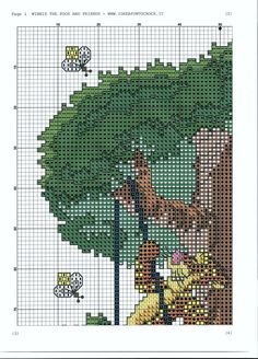 Borduurpatroon Winnie the Pooh kruissteek *Cross Stitch Pattern ~Vrienden in Boom *In Tree Cross Stitch For Kids, Cross Stitch Tree, Just Cross Stitch, Cross Stitch Baby, Cross Stitch Charts, Cross Stitch Designs, Cross Stitch Patterns, Cross Stitching, Cross Stitch Embroidery