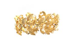 Puccini Bracelet Faux Pearls and Rhinestones by ClassiqueStyle, $35.00