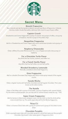Secret Starbucks Drink Recipes :) yummy-yum