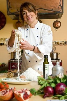 Ready to make pici pasta? Delicious with cherry tomatoes , pecorino cheese and aromatic herbs by Chef  @Silvia Baracchi  at the #Ilfalconiere