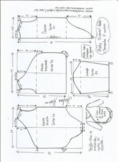 Risultati immagini per molde de body para bebe Baby Dress Patterns, Baby Clothes Patterns, Baby Doll Clothes, Kids Patterns, Sewing Patterns, Toddler Outfits, Baby Boy Outfits, Pattern Making Books, Fashionista Kids