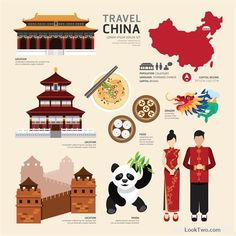 Free Chinese travel cultural elements vector material vector download