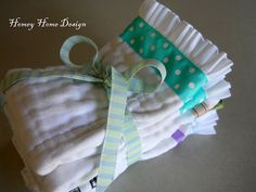 Pretty burp cloths for baby showers