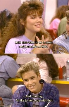 Saved By the Bell - Zack Morris and Kelly Kapowski