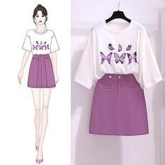 Fashion Drawing Dresses, Fashion Illustration Dresses, Korean Fashion Dress, Indian Fashion Dresses, Kpop Fashion Outfits, Girls Fashion Clothes, Girl Outfits, Stylish Dress Designs, Stylish Dresses