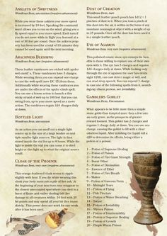 DnD 5e Homebrew — The Forgotten ARchives Items by PoundTown00
