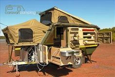 South Africa builds some impressive RVs and the latest to arrive Down Under is this versatile bush camper that combines rugged engineering with creature comforts Off Road Camping, Camping Glamping, Camping Life, Outdoor Camping, Camping Box, Camping Items, Expedition Trailer, Overland Trailer, Off Road Camper Trailer