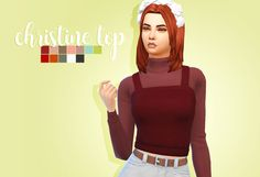 Hello everyone! So here you have it! the top separated from the cats and dogs dress! I hope you will enjoy! • BASE GAME COMPATIBLE • 12 swatches • all lods • Feel free to recolor, don't include...