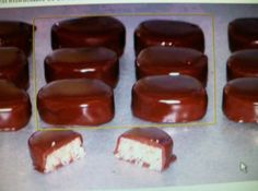 Mound Bars   1 lbbag sweetened coconut  1 lb- bxpowdered sugar  1 can(s)(eagle brand) 14 oz size sweetened condensed milk, (do not use evaporated milk)  3 Calmonds