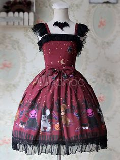 Sweet Bows Chiffon Lolita Dress - Lolitashow.com