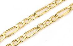 Retiazka pánska Figaro zo 14 karátového žltého zlata Bobby Pins, Hair Accessories, Bracelets, Earrings, Gold, Beauty, Jewelry, Ear Rings, Stud Earrings