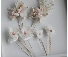 Beach Wedding Bridal Hair Pins SET with Shells by Weddingtrunkshow