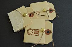 Maize Hutton: How To Make Hang Tag Notebooks DIY