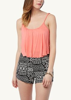 Popover Printed Cami Romper | Jumpsuits & Rompers | rue21