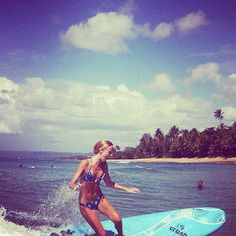 Another of my goals is to exercise in nature and try new things! I recently learnt how to surf!!!