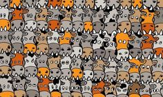 In the cartoon brain teaser the aim is to find a spotty dog among a herd of speckled cows. Finding the canine fiendishly tricky as he is well disguised among the cattle.