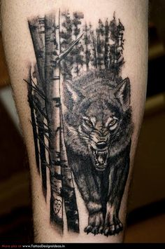 wilderness tattoos wolf
