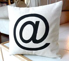 Modern Pillow Case  Black Design Hand Painted on by MoniKdesigns, $30.00