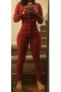 Pure Color V-neck Long Sleeves Long Slim Jumpsuit