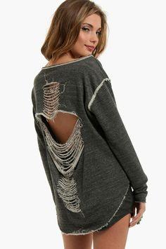 Slash Sweater $44. i wonder if i could make this!