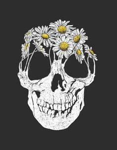 TÊTE DE MORT FLEURIE