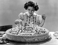 Shirley Temple Decorating Her Birthday