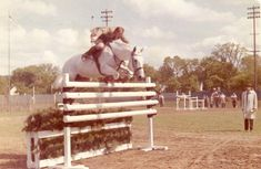 How did I not know about this story?  Harry loved to delight the audience by not holding the reins when they jumped. Photo from the Private Collection of Harry de Leyer