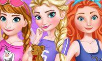 Fiesta de piyamas de princesas de Disney - Juega a juegos en línea gratis en Juegos.com
