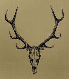 Elk Skull Tattoos | Elk Skull Tattoos Elk skull tattoo,