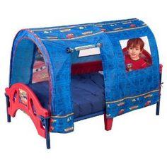 Disney Cars Tent Toddler Bed Boys Kids Sleep Play Hide Bedroom Window Play Room