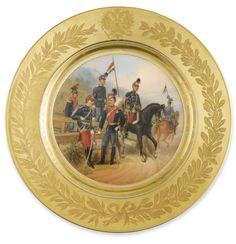 Russian Porcelain Plate from a Military Service, Imperial Porcelain Manufactory, St. Petersburg, Period of Alexander II (1855-1881), dated 1882 - Sotheby's