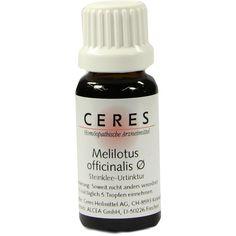 CERES Melilotus officinalis - Steinklee Urtinktur:   Packungsinhalt: 20 ml Tropfen PZN: 00179134 Hersteller: CERES Heilmittel GmbH Preis:…