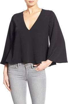 cooper & ella 'Ruby' V-Neck Swing Top available at #Nordstrom