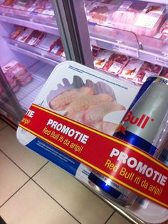 Funny pictures about Red Bull gives you wings. Oh, and cool pics about Red Bull gives you wings. Also, Red Bull gives you wings. Red Bull, In Soviet Russia, Sick Of People, False Advertising, The Meta Picture, Guerilla Marketing, Street Marketing, Humor Grafico, Funny Pranks