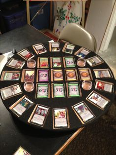 Homemade lazy Susan for my favorite card game Dominion! Great work Bob!