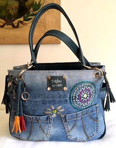 Sewing Bags Diy Handbag Tote Pattern Ideas Sewing Bags Diy Handbag Tote Pattern Ideas diy sewing This image has 492 Bag Jeans, Denim Tote Bags, Denim Handbags, Denim Purse, Tote Handbags, Mochila Jeans, Blue Jean Purses, Diy Sac, Leather Bags Handmade