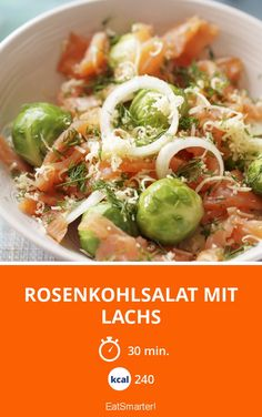 Rosenkohlsalat mit Lachs