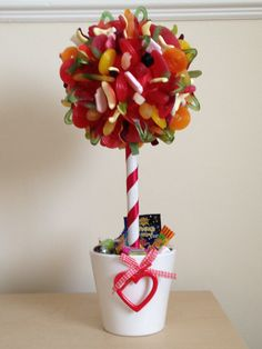 Haribo Sweet Tree in Heart Detail Pot £20