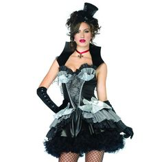Disfraz de Reina de la oscuridad    Leg Avenue Queen of darkness woman costume    Disfraz elegante de Reina de la Oscuridad    Vive para siempre en la noche y conviértete en la versión femenina de Drácula con este maravilloso disfraz