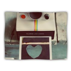 Kess InHouse Cristina Mitchell Polaroid Love Teal Camera Pet Blanket 40 by 30Inch *** You can get more details by clicking on the image.