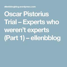Oscar Pistorius Trial – Experts who weren't experts (Part 1) – ellenbblog