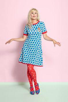 Margot kjole Denice Drippledot no 774 / dress Margot MWM wear forårs nyheder 2017 King Louie, Cool Style, My Style, Mod Fashion, Cute Skirts, Retro Dress, Designer Dresses, Vintage Dresses, Dress Skirt