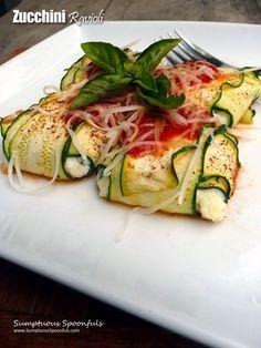 Zucchini Ravioli looks amazing, and tastes even better!  Lightened Up Version   @TomatoWellness #TomatoWellness